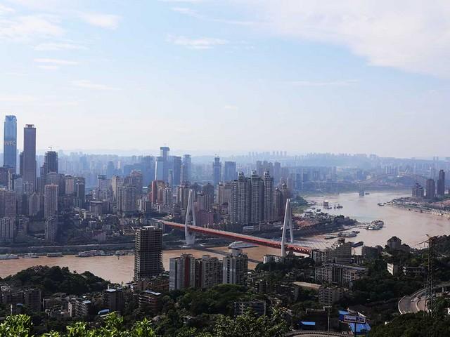 長江下流側