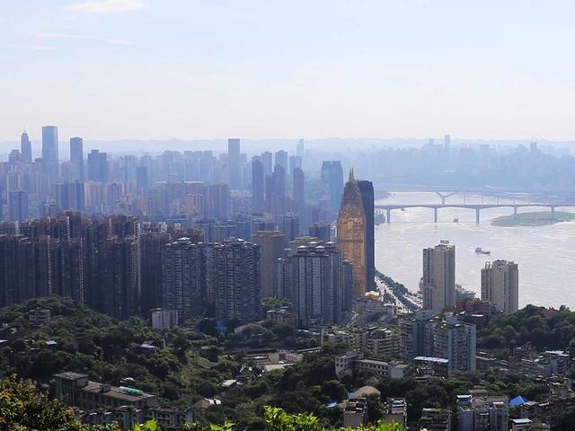 長江上流側