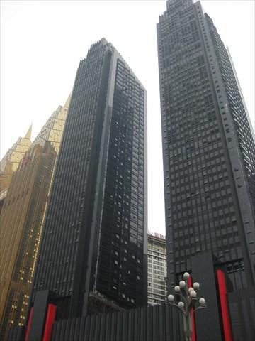 黒いツインタワー
