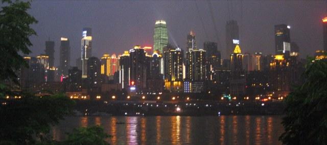 解放碑の夜景