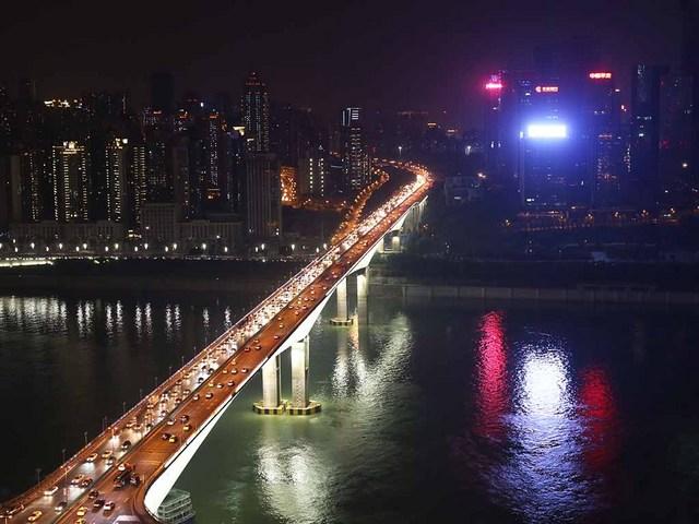 夜景(黄花園大橋)